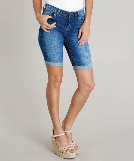 Bermuda-Jeans-Feminina-Ciclista-Barra-Dobrada-Azul-Escuro-9314124-Azul_Escuro_1