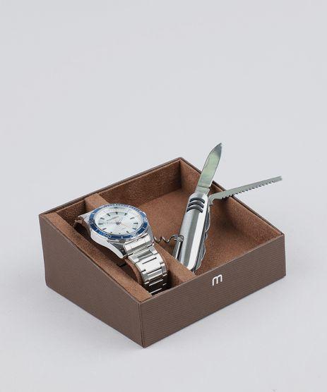 Kit-de-Relogio-Analogico-Mondaine-Masculino---Canivete---53521G0MVNE1KA-Prateado-9527721-Prateado_1
