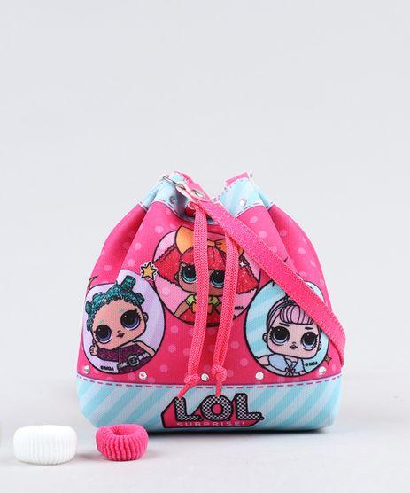 Bolsa-Infantil-LOL-Surprise-Estampada---Elasticos-de-Cabelo-Pink-9442874-Pink_1