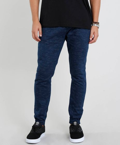Calca-Masculina-Jogger-Mescla-em-Moletom--Azul-Marinho-9442740-Azul_Marinho_1