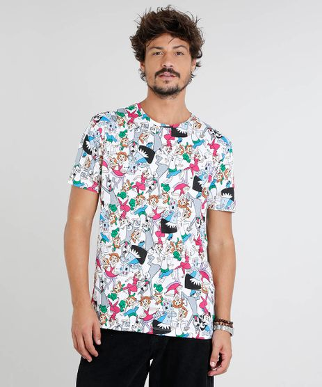 Camiseta-Masculina-Os-Jetsons-Estampada-Manga-Curta-Gola-Careca-Off-White-9434500-Off_White_1