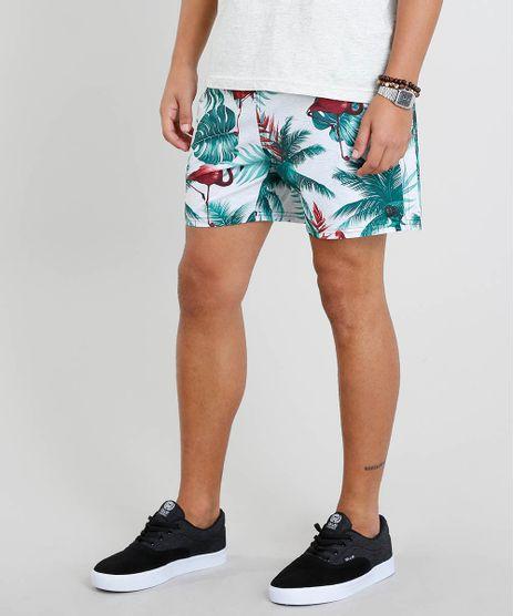 Short-Masculino-Estampado-de-Flamingo-com-Bolsos-Off-White-9308701-Off_White_1
