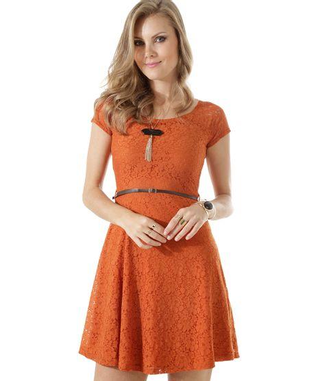 1d9351ecb Vestido-em-Renda-com-Cinto-Marrom-8407037-Marrom_1. Moda Feminina