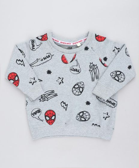 Blusao-Infantil-Homem-Aranha-Estampado-em-Moletom--Cinza-Mescla-9140244-Cinza_Mescla_1