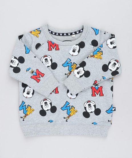 Blusao-Infantil-Estampado-Turma-do-Mickey-em-Moletom-Cinza-Mescla-9140242-Cinza_Mescla_1