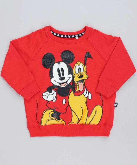 Blusao-Infantil-Mickey-e-Pluto-em-Moletom-Manga-Longa-Vermelha-9464533-Vermelho_1