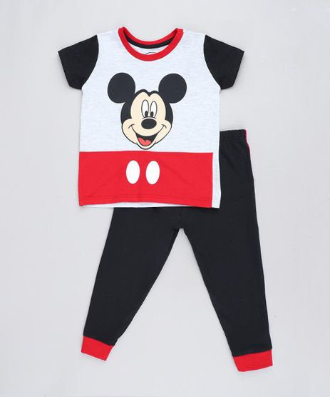 Pijama-Infantil-Mickey-Manga-Curta-Cinza-Mescla-9476326-Cinza_Mescla_1