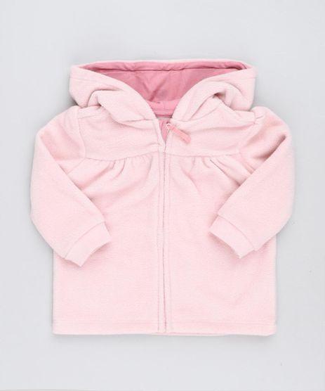 Blusao-Infantil-Gatinha-com-Capuz-em-Fleece-Manga-Longa-Rosa-Claro-9345930-Rosa_Claro_1