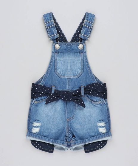 Jardineira-Jeans-Infantil-com-Faixa-Estampada-de-Poa-Azul-Medio-9438031-Azul_Medio_1