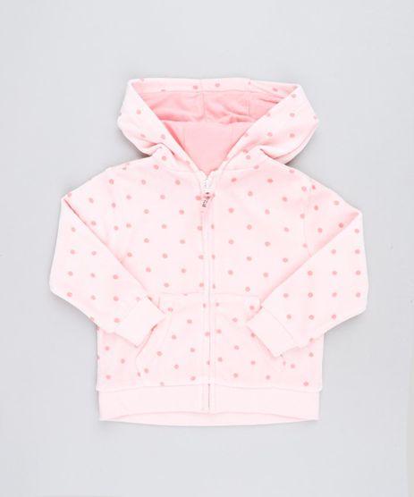 Blusao-Infantil-Estampado-de-Poa-em-Plush-com-Capuz-Rosa-Claro-9345925-Rosa_Claro_1