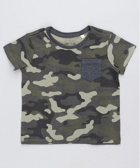 ddb336341 Camiseta-Infantil-Estampada-Camuflada-com-Bolso-Manga-Curta-. Menino.  Adicionar 1
