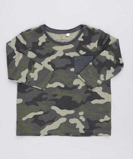 Camiseta-Infantil-Estampada-Camuflada-com-Bolso-Manga-Longa-Gola-Careca-Verde-Militar-9482764-Verde_Militar_1