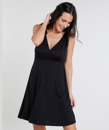Vestido-Feminino-Curto-com-No-nas-Alcas-Decote-V-Preto-9454344-Preto_1
