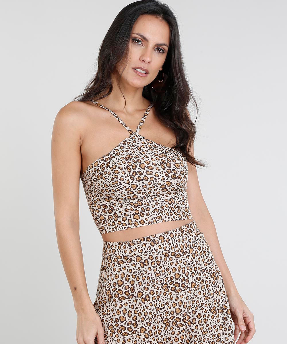 ... Regata-Feminina-Cropped-Estampada-Animal-Print-Bege-9439216- 18402317d0c