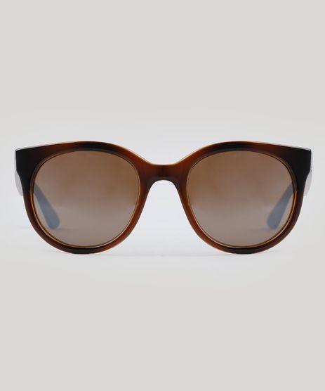 Oculos-de-Sol-Redondo-Feminino-Oneself-Marrom-9493420-Marrom_1