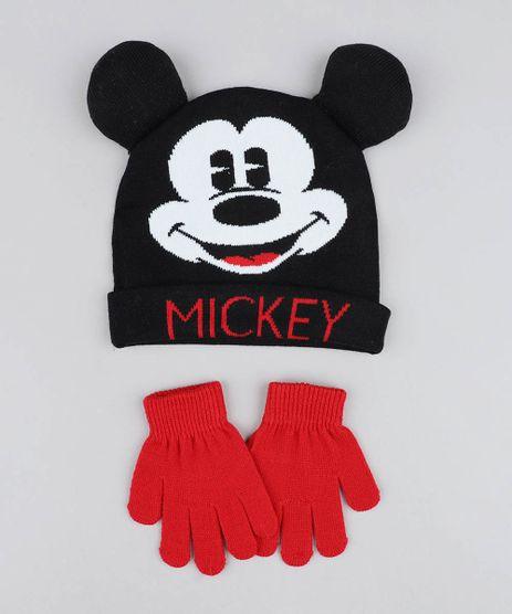 Kit-de-Gorro-Infantil-Mickey-com-Orelhas---Luvas-em-Trico-Preto-9358315-Preto_1