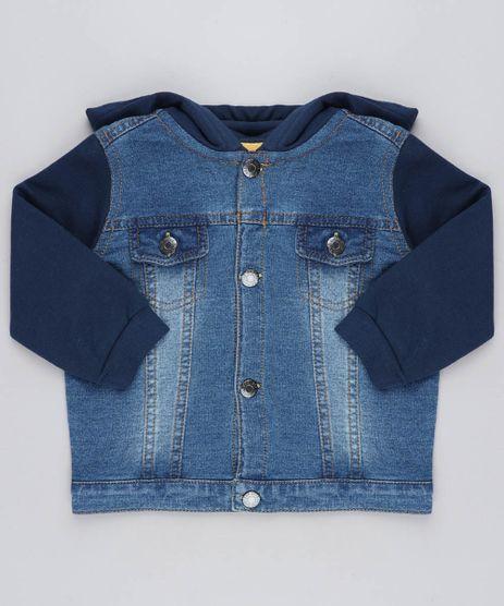 Jaqueta-Jeans-Infantil-com-Capuz-em-Moletom-Azul-Escuro-9201539-Azul_Escuro_1