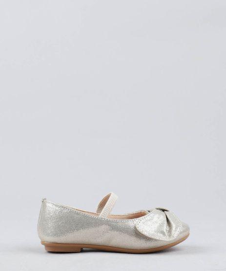 Sapatilha-Infantil-com-Brilho-e-Laco-Dourada-9509820-Dourado_1