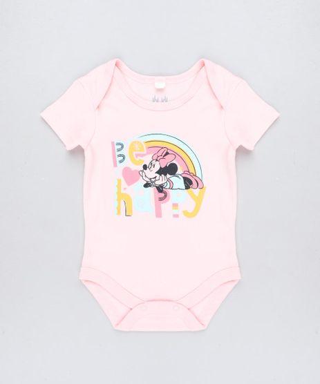 Body-Infantil-Minnie-com-Arco-Iris-Manga-Curta-Decote-Redondo-Rose-9190669-Rose_1