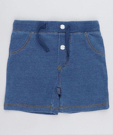 Bermuda-Jeans-Infantil-em-Moletom-Azul-Medio-9201540-Azul_Medio_1