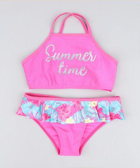 Biquini-Infantil--Summer-Time--com-Babado-Protecao-UV50--Pink-9419674-Pink_1