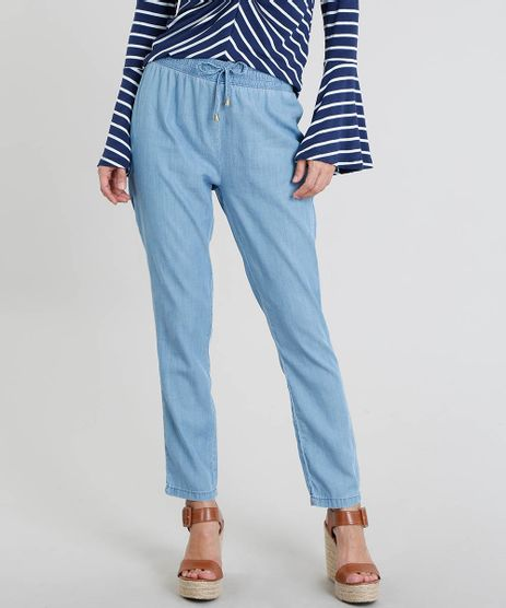 Calca-Jeans-Feminina-Jogger-com-Cordao-Azul-Claro-9269737-Azul_Claro_1
