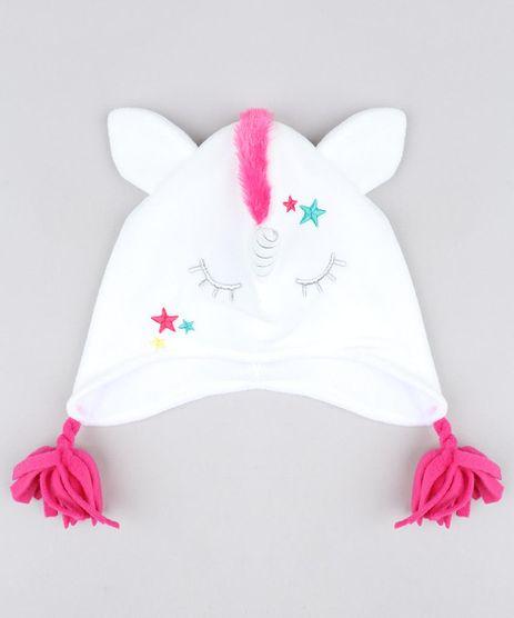 Kit-de-Gorro-Unicornio-em-Fleece---Luvas-em-Trico-Branco-9358411-Branco_1