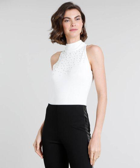 Regata-Feminina-em-Trico-com-Perolas-Gola-Alta-Off-White-9337759-Off_White_1
