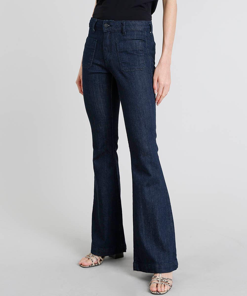 e7439faec ... Calca-Jeans-Feminina-Flare-Azul-Escuro-9463454-Azul_Escuro_1