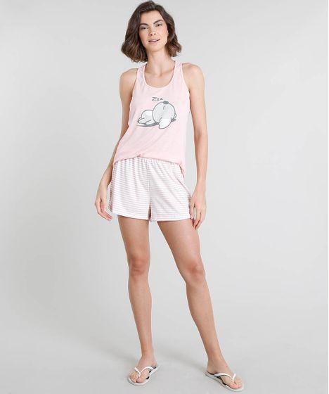 68ba093ee Pijama-Feminino-Coala-Regata-Rosa-9549450-Rosa_1 ...