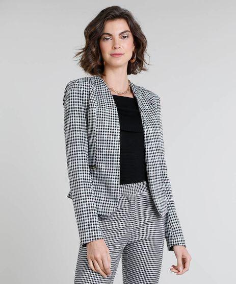 Blazer-Feminino-Estampado-Xadrez-Vichy-com-Ziper-Off-White-9382145-Off_White_1