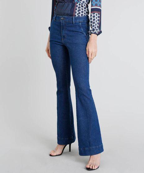 Calca-Jeans-Feminina-Flare-Azul-Medio-9463455-Azul_Medio_1