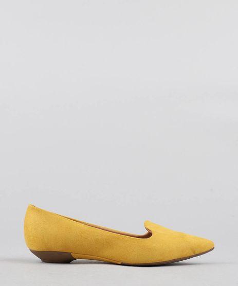 Sapatilha-Feminina-Bico-Fino-Vizzano-em-Suede-Amarela-9472314-Amarelo_1