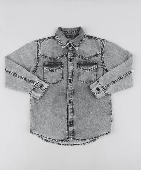 Camisa-Jeans-Infantil-com-Bolsos-Manga-Longa-Preta-9460120-Preto_1