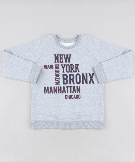 Blusao-Infantil--New-York--em-Moletom-Gola-Careca-Cinza-Mescla-9455994-Cinza_Mescla_1