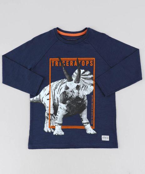 Camiseta-Infantil-Dinossauro-Manga-Longa-Gola-Careca-Azul-Marinho-9440140-Azul_Marinho_1