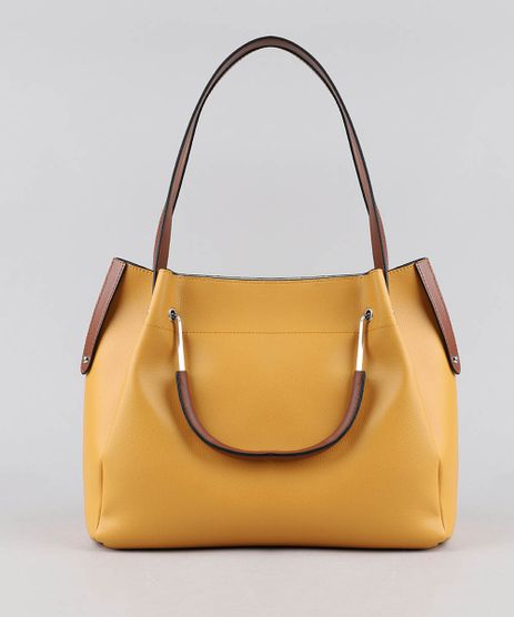Bolsa-de-Ombro-Feminina-Grande-Amarela-9387653-Amarelo_1