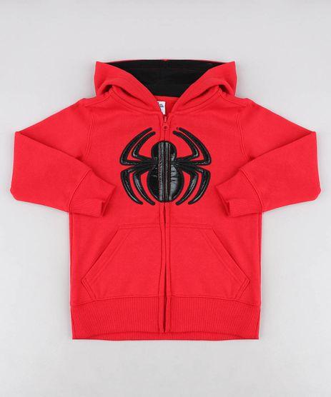 Blusao-Infantil-Homem-Aranha-com-Capuz-em-Moletom-Vermelho-9338655-Vermelho_1