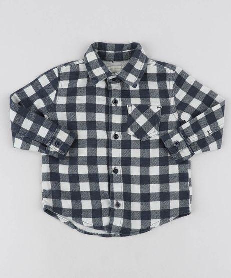 Camisa-Infantil-Estampada-Xadrez-em-Flanela-com-Bolso-Manga-Longa-Azul-Marinho-9460357-Azul_Marinho_1