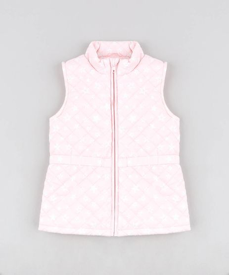 Colete-Infantil-Puffer-Matelasse-Estampado-de-Estrelas-Rosa-Claro-9344149-Rosa_Claro_1