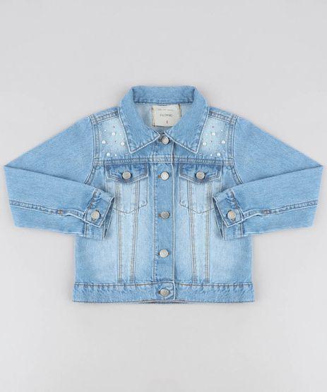 Jaqueta-Jeans-Infantil-com-Perolas-e-Strass-Azul-Claro-9476241-Azul_Claro_1