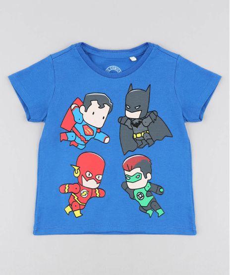 Camiseta-Infantil-Liga-da-Justica-Manga-Curta-Gola-Careca-Azul-9428684-Azul_1