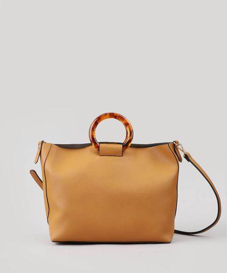 Bolsa-Shopper-Feminina-Grande-com-Alca-de-Acrilico-Bege-Escuro-9386711-Bege_Escuro_1