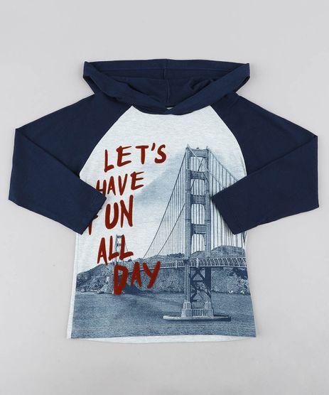 Camiseta-Infantil-Raglan--Have-Fun--com-Capuz-Manga-Longa-Cinza-Mescla-Claro-9438893-Cinza_Mescla_Claro_1