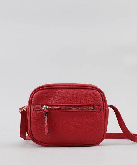 5e49ab8a8 Menor preço em Bolsa Feminina Transversal Pequena com Bolso Vermelha - Único