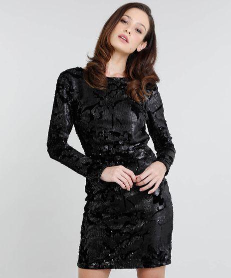 Vestido-Feminino-Mindset-Curto-em-Veludo-com-Paete-Manga-Longa-Preto-9555075-Preto_1