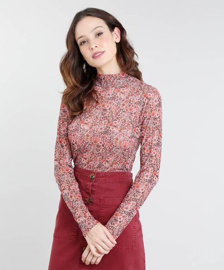 Blusa-Feminina-Mindset-em-Tule-Estampado-Floral-Manga-Longa-Gola-Alta-Rose-9537541-Rose_1