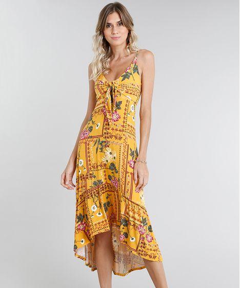 e22e21d13 Vestido-Feminino-Midi-Mullet-Estampado-Floral-Amarelo-9462428- ...