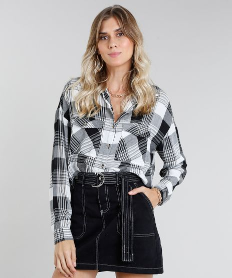 Camisa-Feminina-Cropped-Estampada-Xadrez-Manga-Longa-Branca-9365397-Branco_1