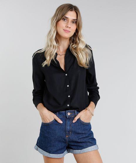 Camisa-Feminina-com-Fenda-Manga-Longa-Preta-9365389-Preto_1